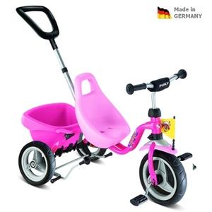 Dziecięca czerwona rowerek trójkołowy Carry Touring Tipper CAT 1 S pink 2325, Puky