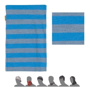 szalik Sensor TUBE MERINO WOOL niebieski pasy 16200181, Sensor