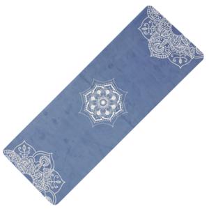 Podkładka do jogę YATE joga naturalny guma / wzór C / niebieski, Yate